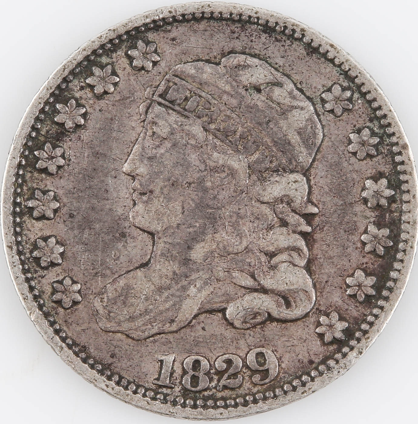 First Year of Issue 1829 Capped Bust Silver Half Dime