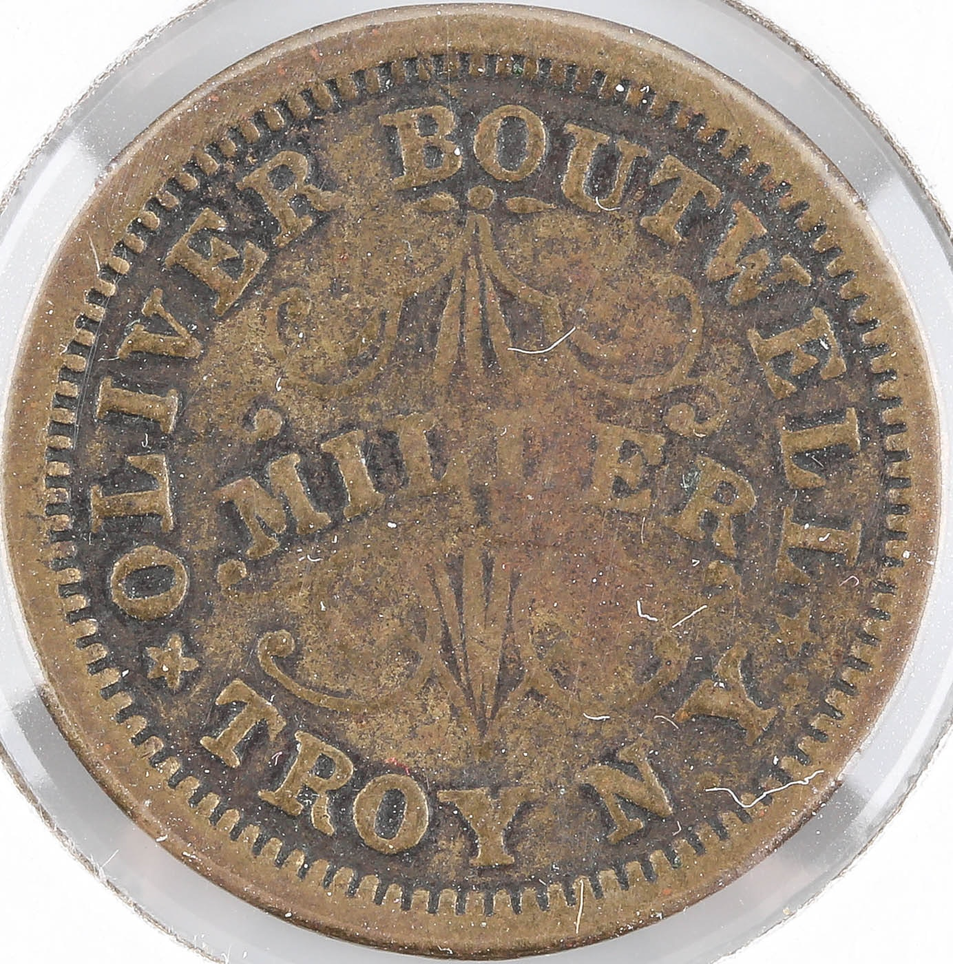 1863 Civil War Token Oliver Boutwell - Miller