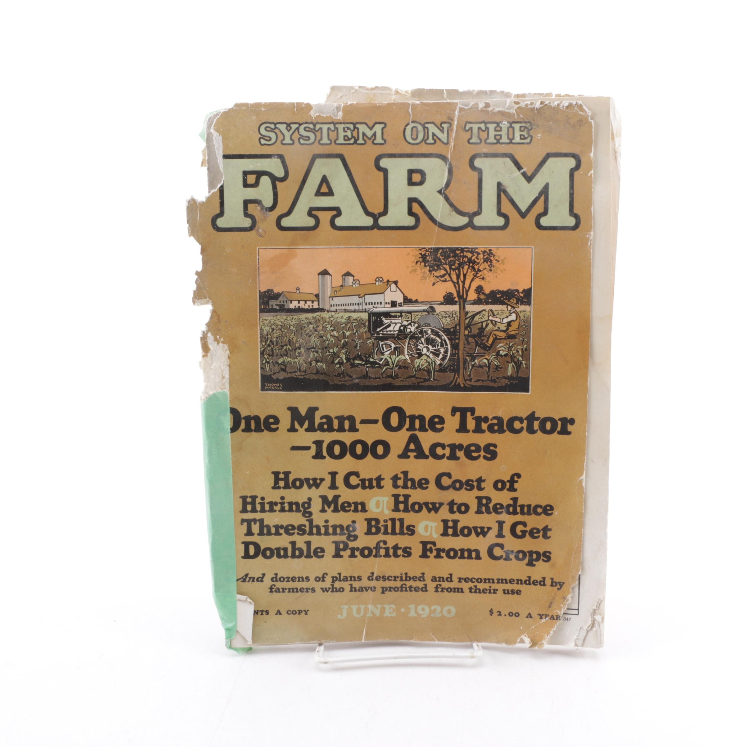 "1920 ""System on the Farm"" Magazine"