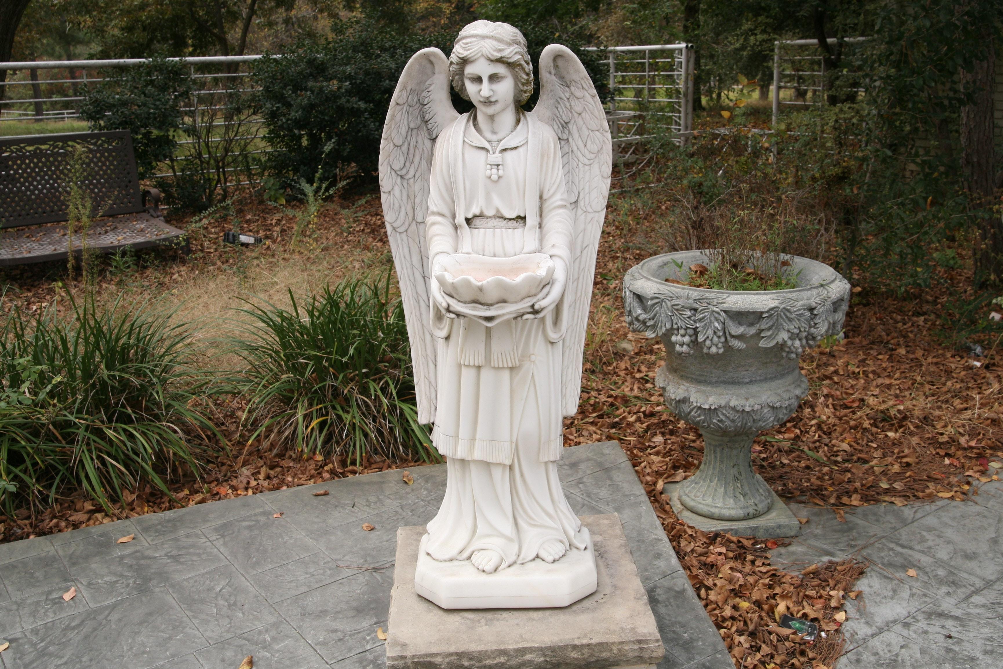 Marble Garden Sculpture of an Angel