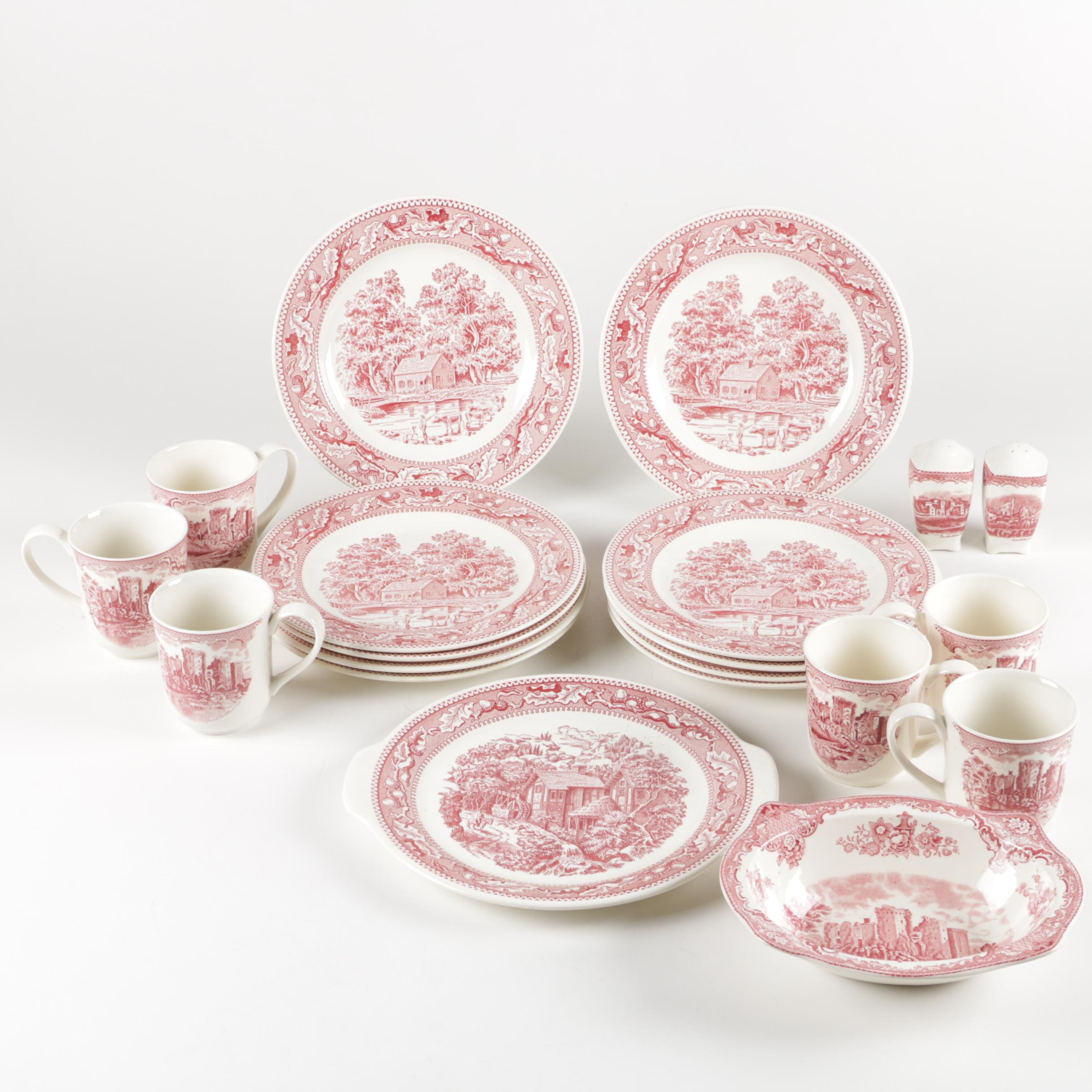 "Royal ""Memory Lane Pink"" and Other Ironstone Tableware"