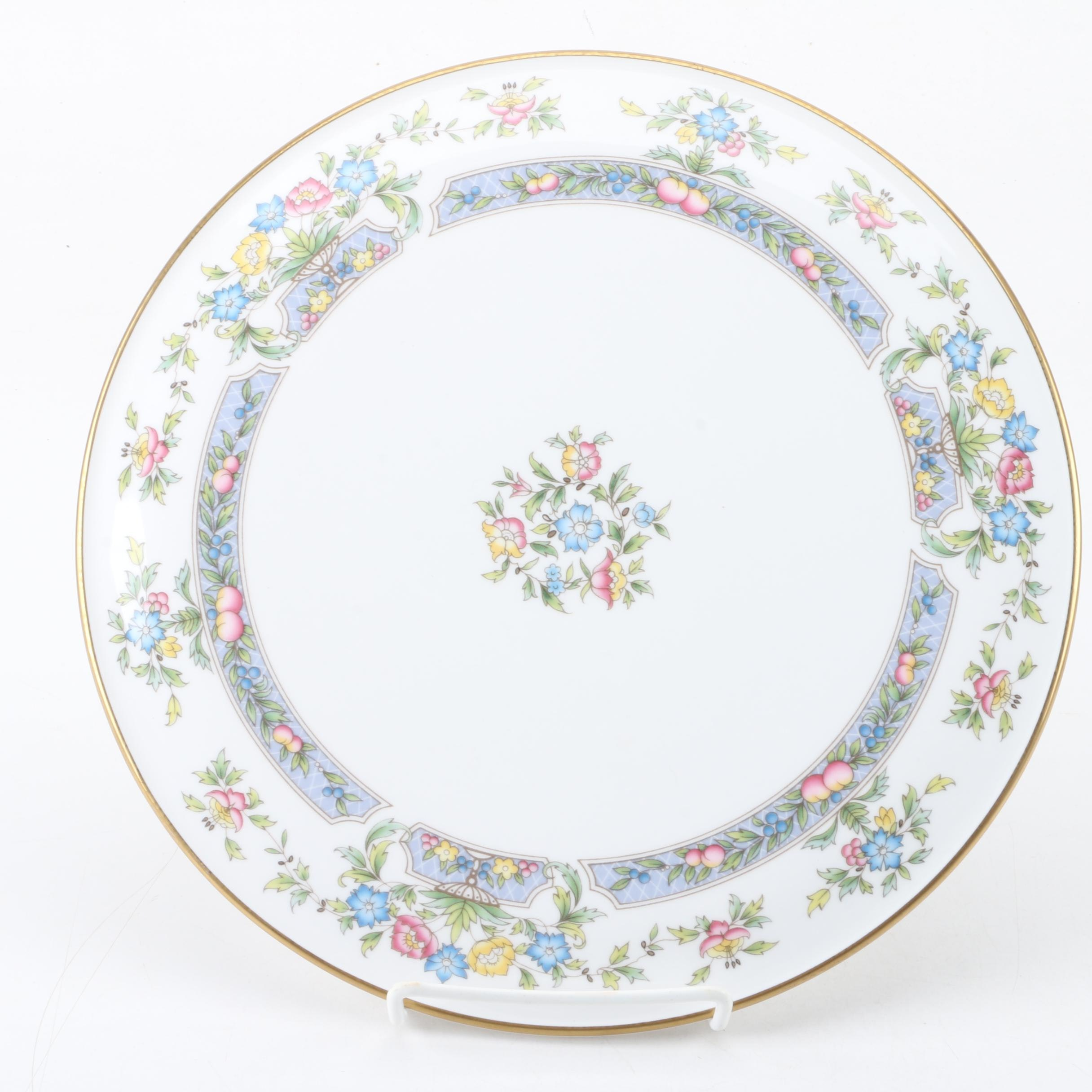 "Royal Worcester ""Mayfield"" Cake Plate, Circa 1981"