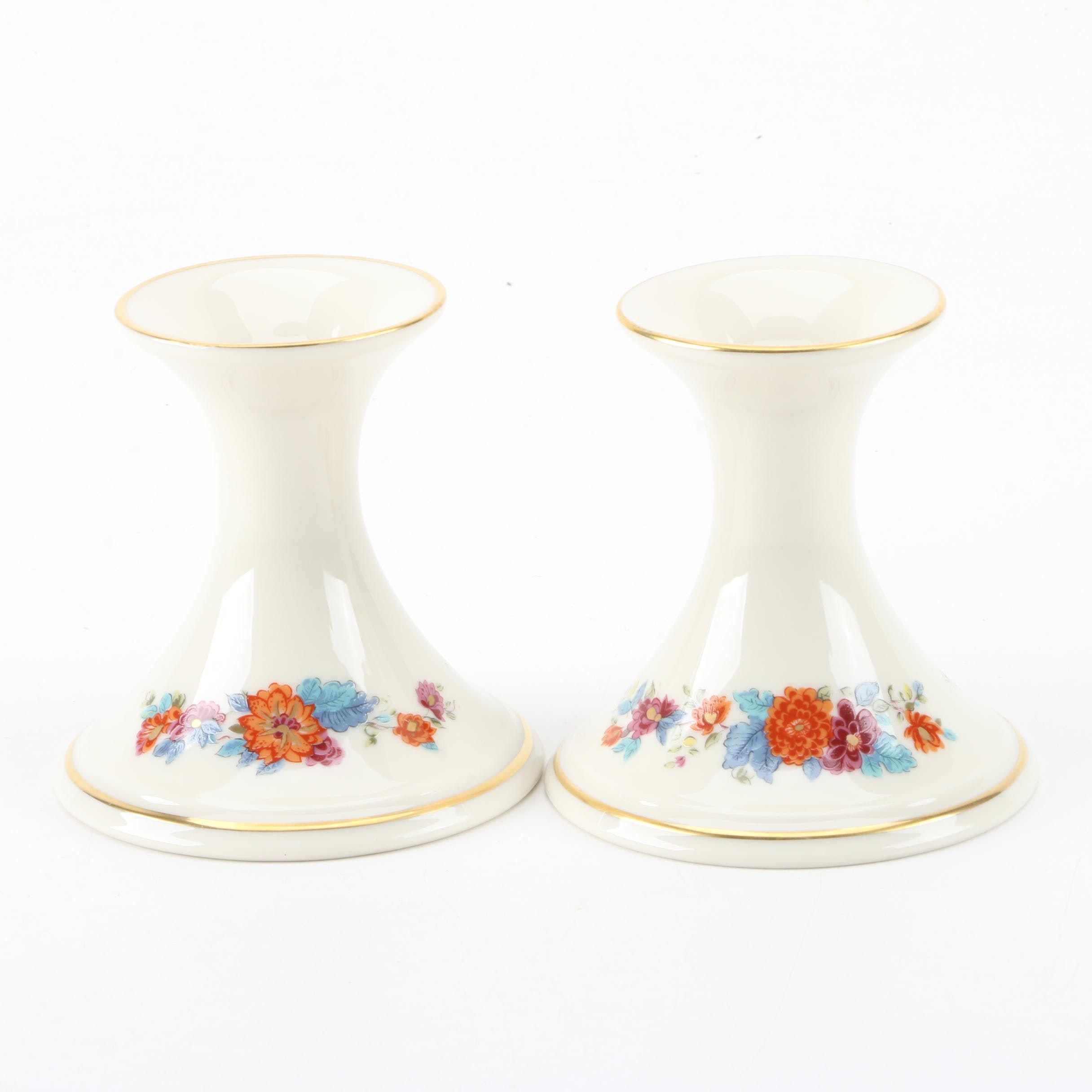 Lenox Porcelain Candle Holders
