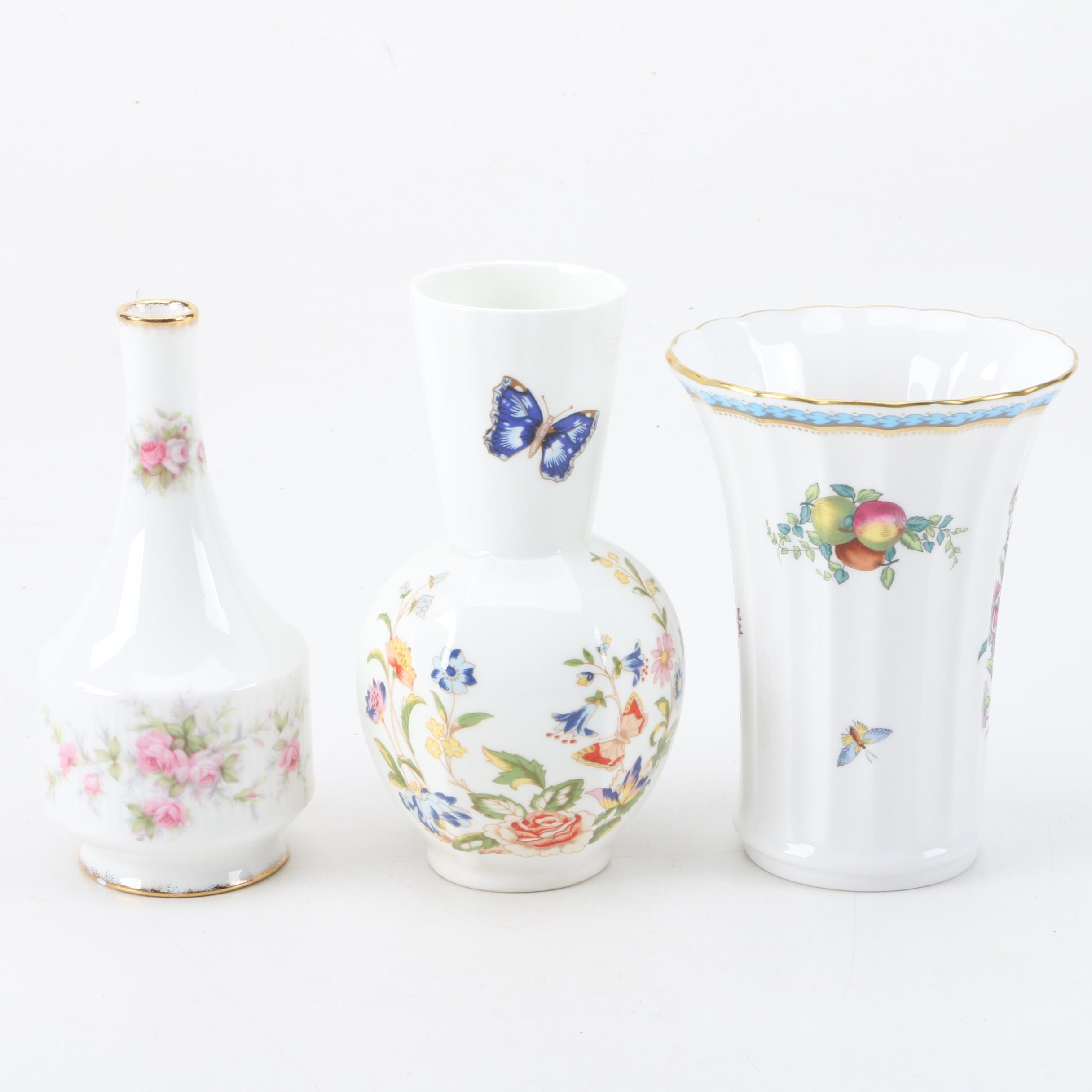 Vintage China Vase Assortment Featuring Spode
