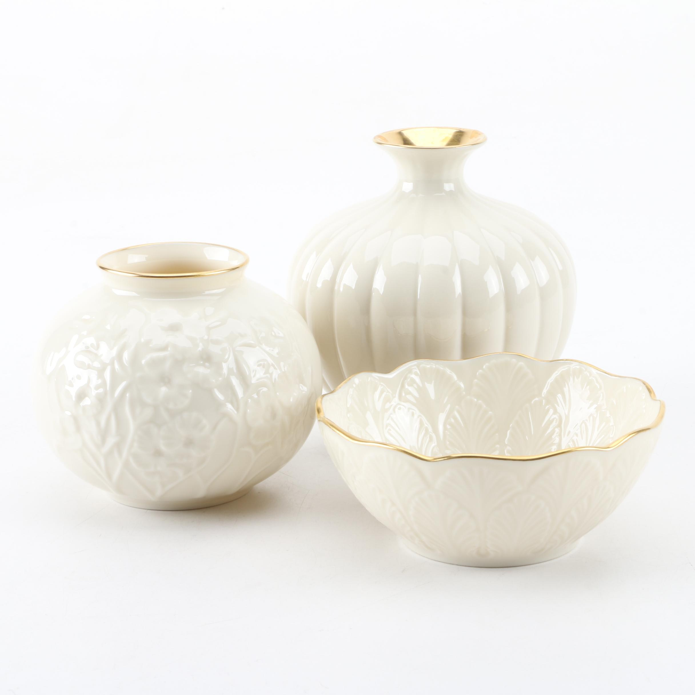 Lenox Porcelain Vases and Decor
