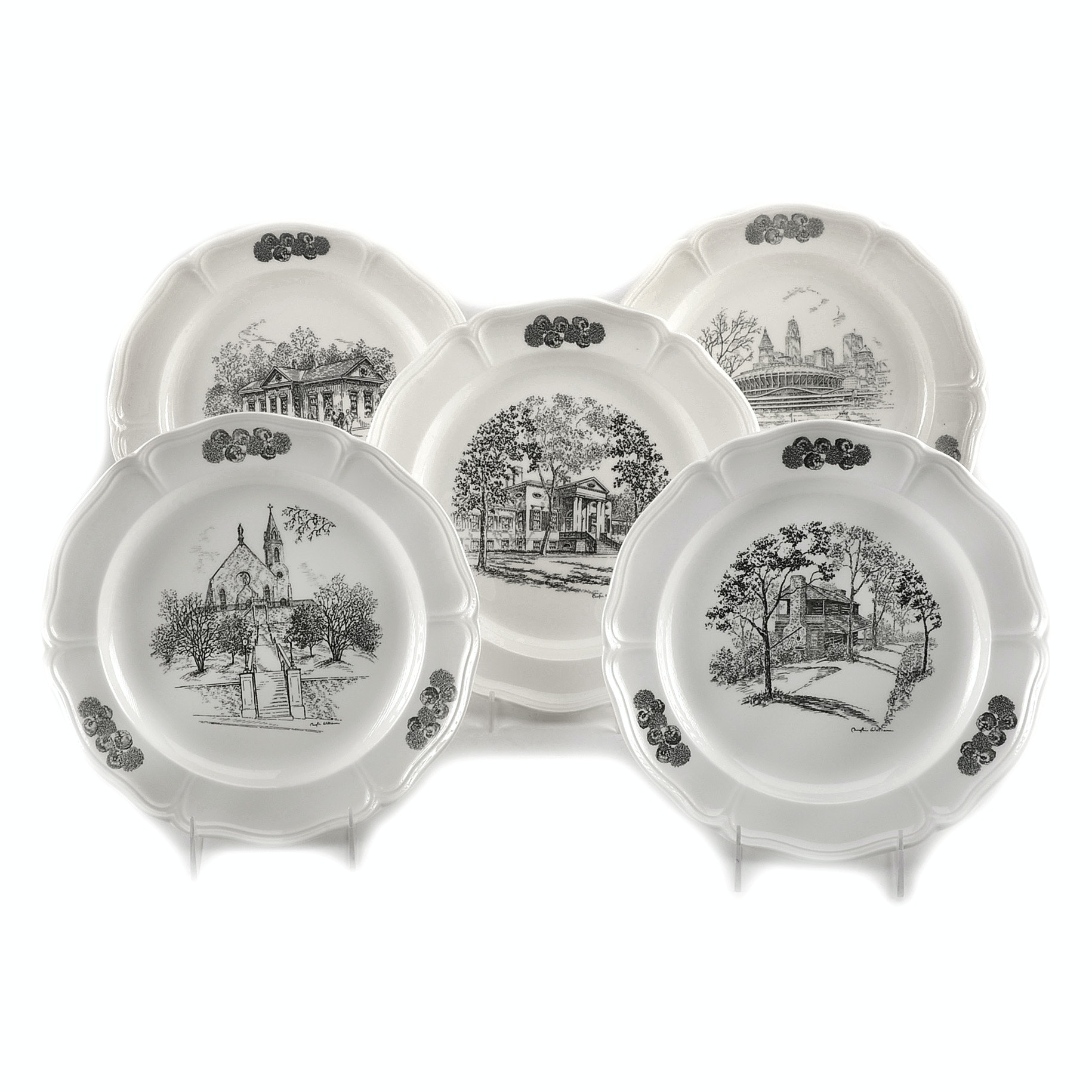 Group of Caroline Williams Cincinnati Collectible Plates by Wedgwood
