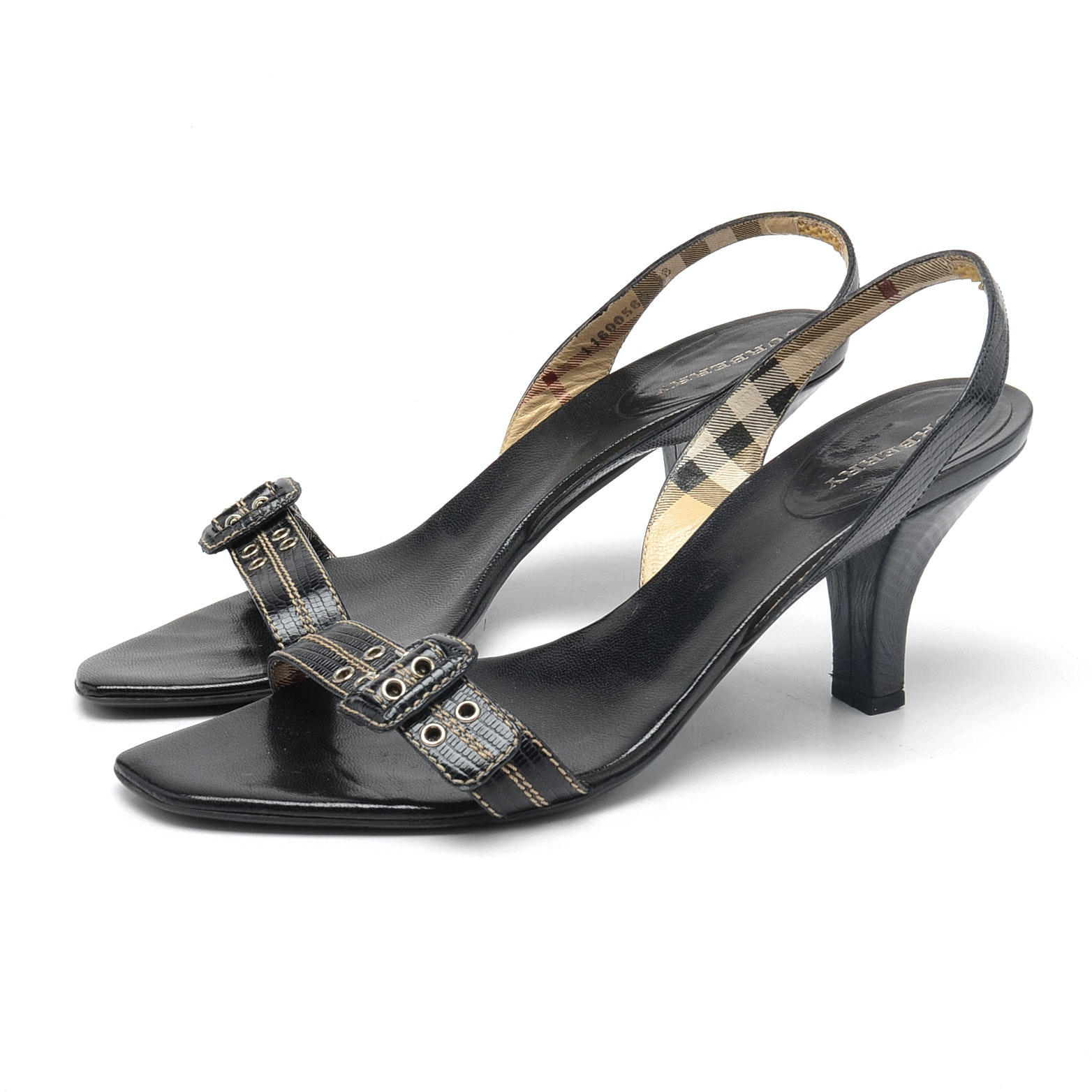 Burberry Slingback Sandals