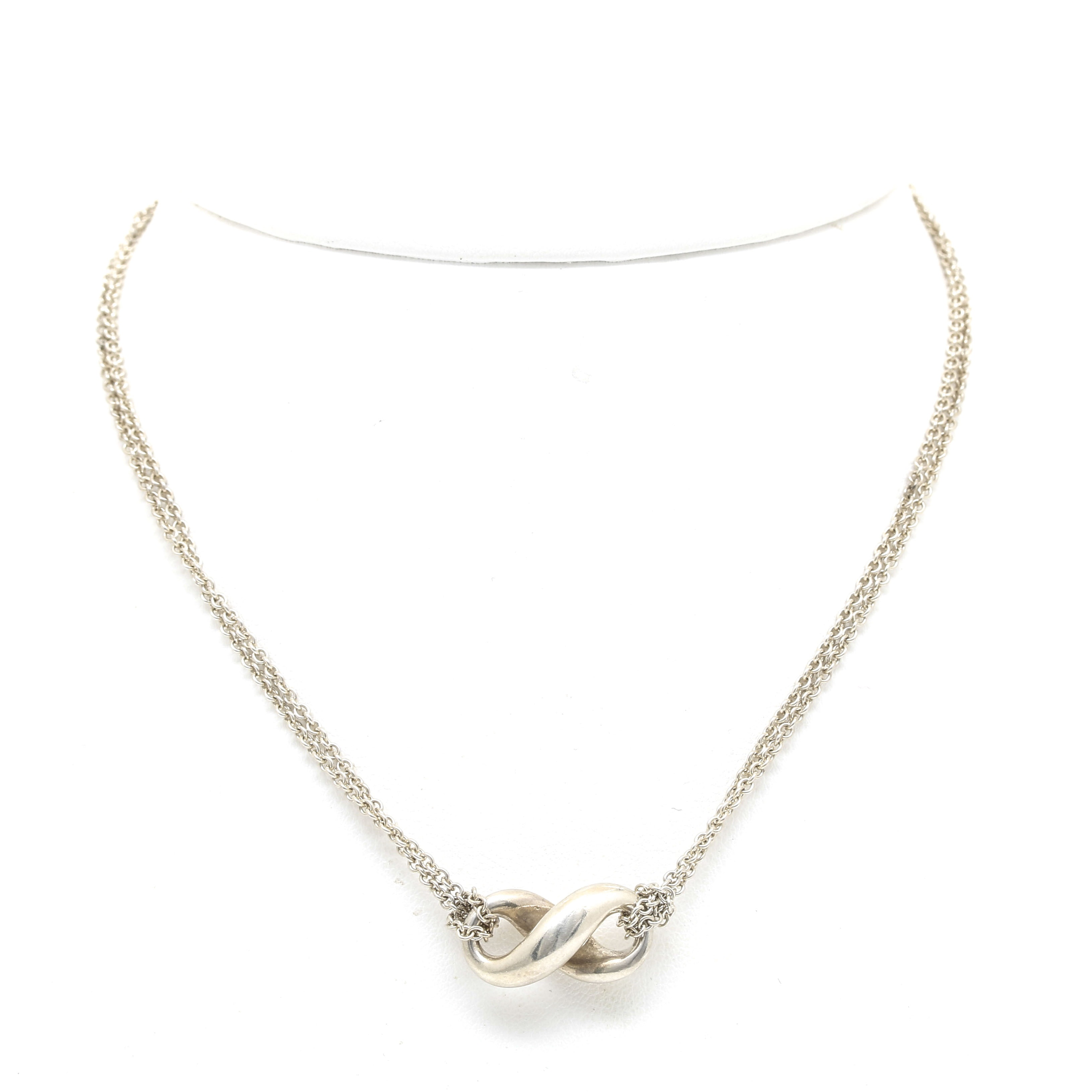 """Tiffany & Co. """"Infinity"""" Double Chain Necklace"""