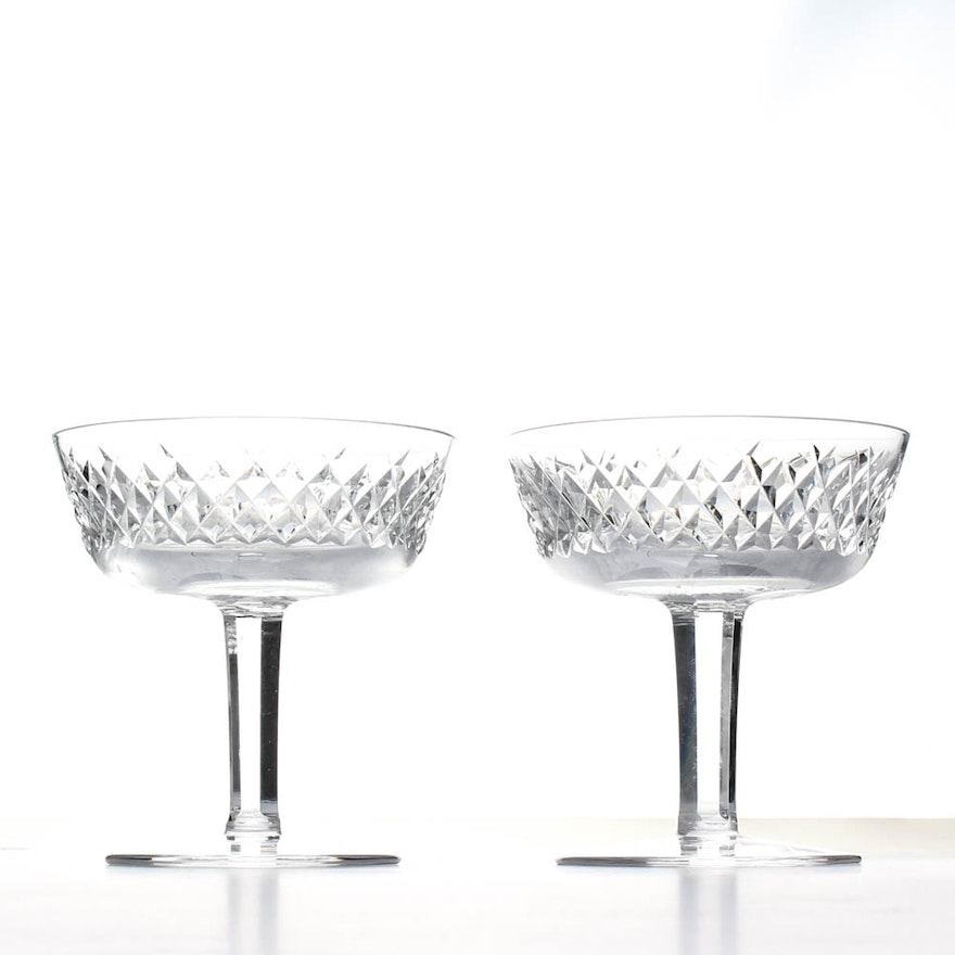 Two waterford crystal alana champagne coupes ebth - Waterford champagne coupe ...