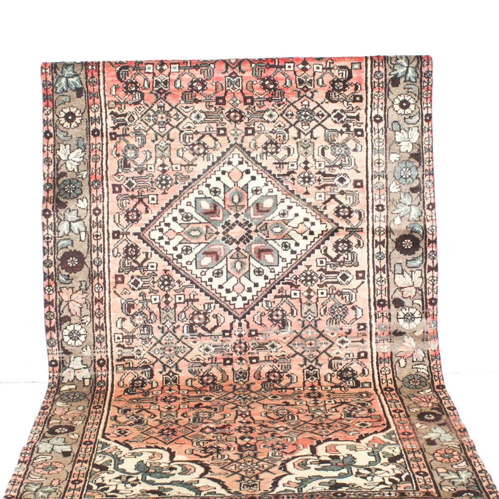 Vintage Hand Knotted Persian Malayer Sarouk Area Rug