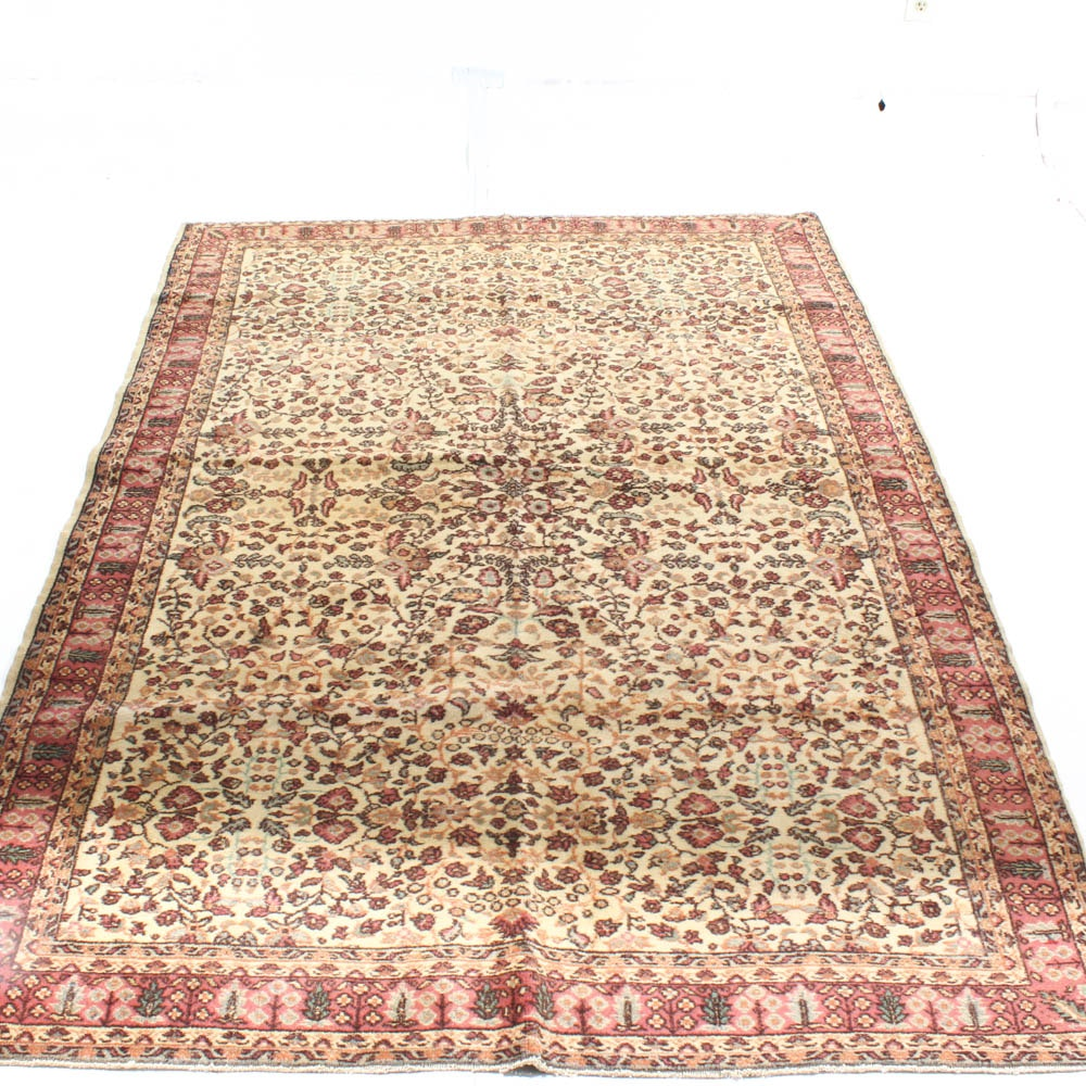 Antique Hand Knotted Turkish Kaysari Area Rug