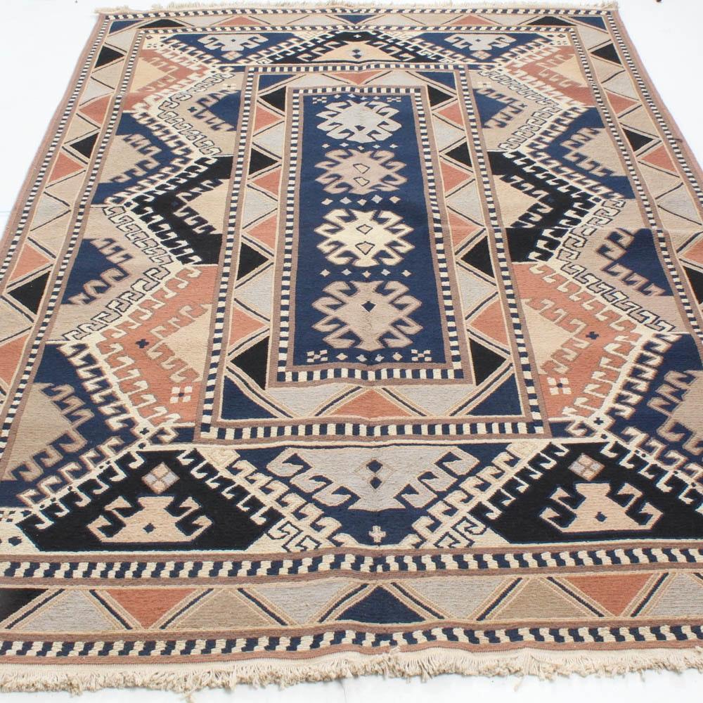 Handwoven Caucasian Soumak Room Size Rug