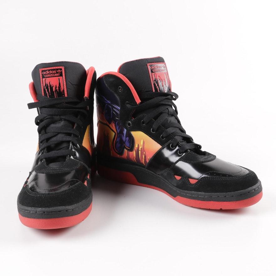 Adidas x Star Wars Darth Vader High Top Sneakers   EBTH a0662cb672