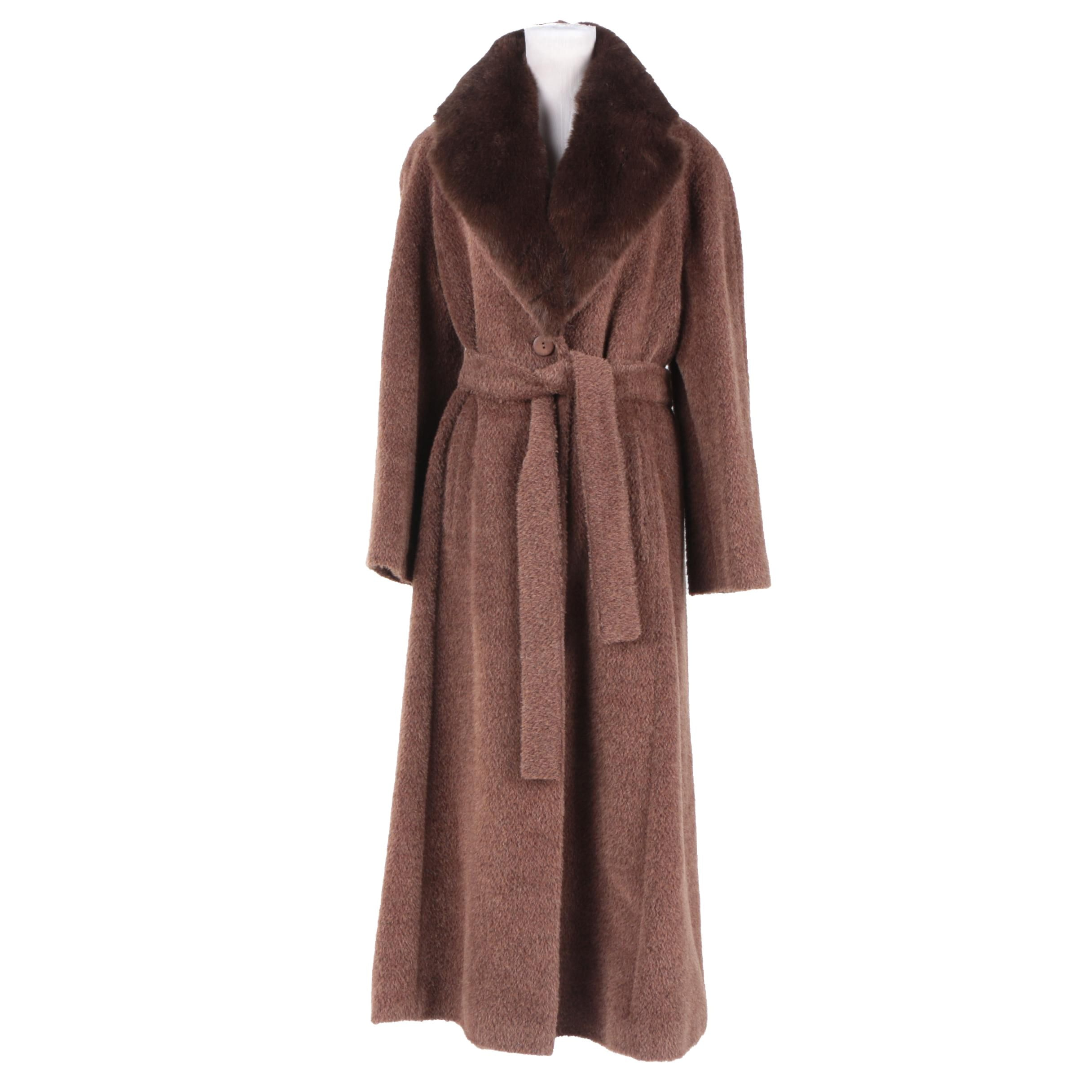 Women's Henry White Alpaca and Mohair Coat