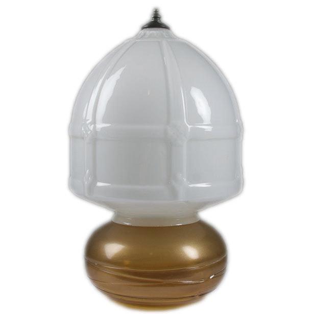 Vintage Opalescent Votive with Milk Glass Shade