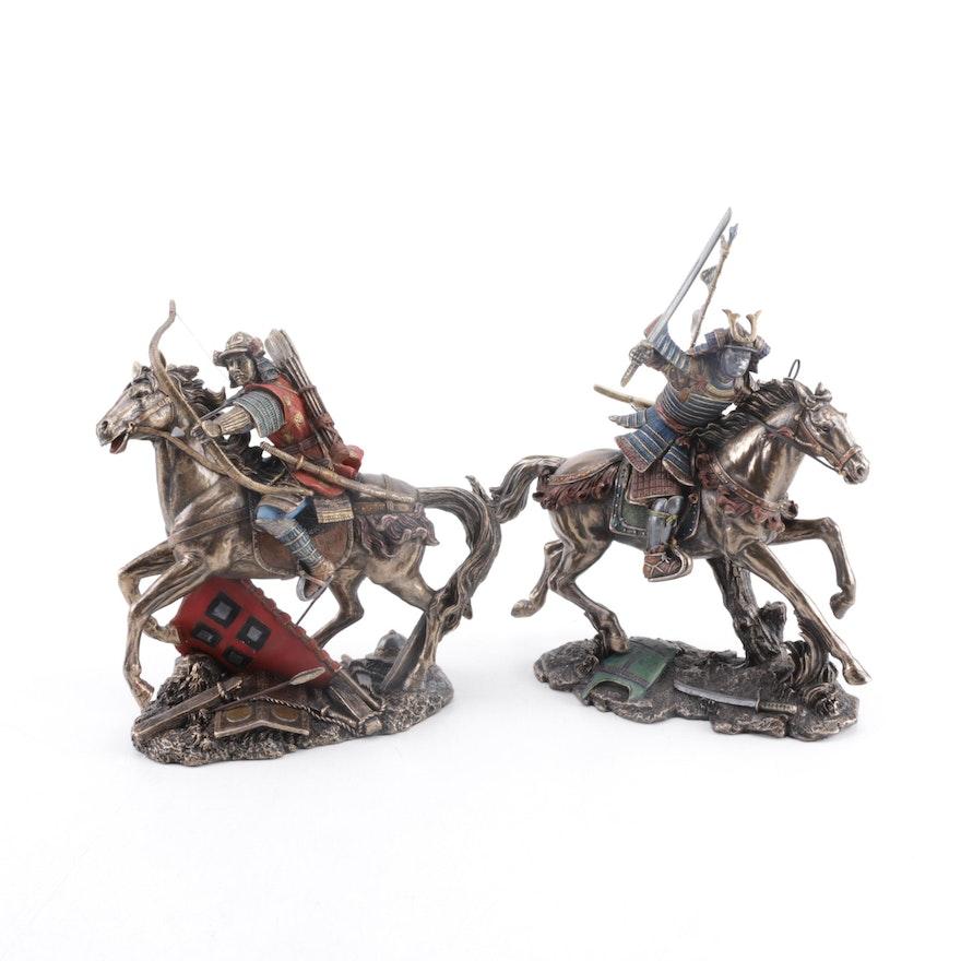 Studio Collection Bronze Veronese Design Samurai Figurines Ebth