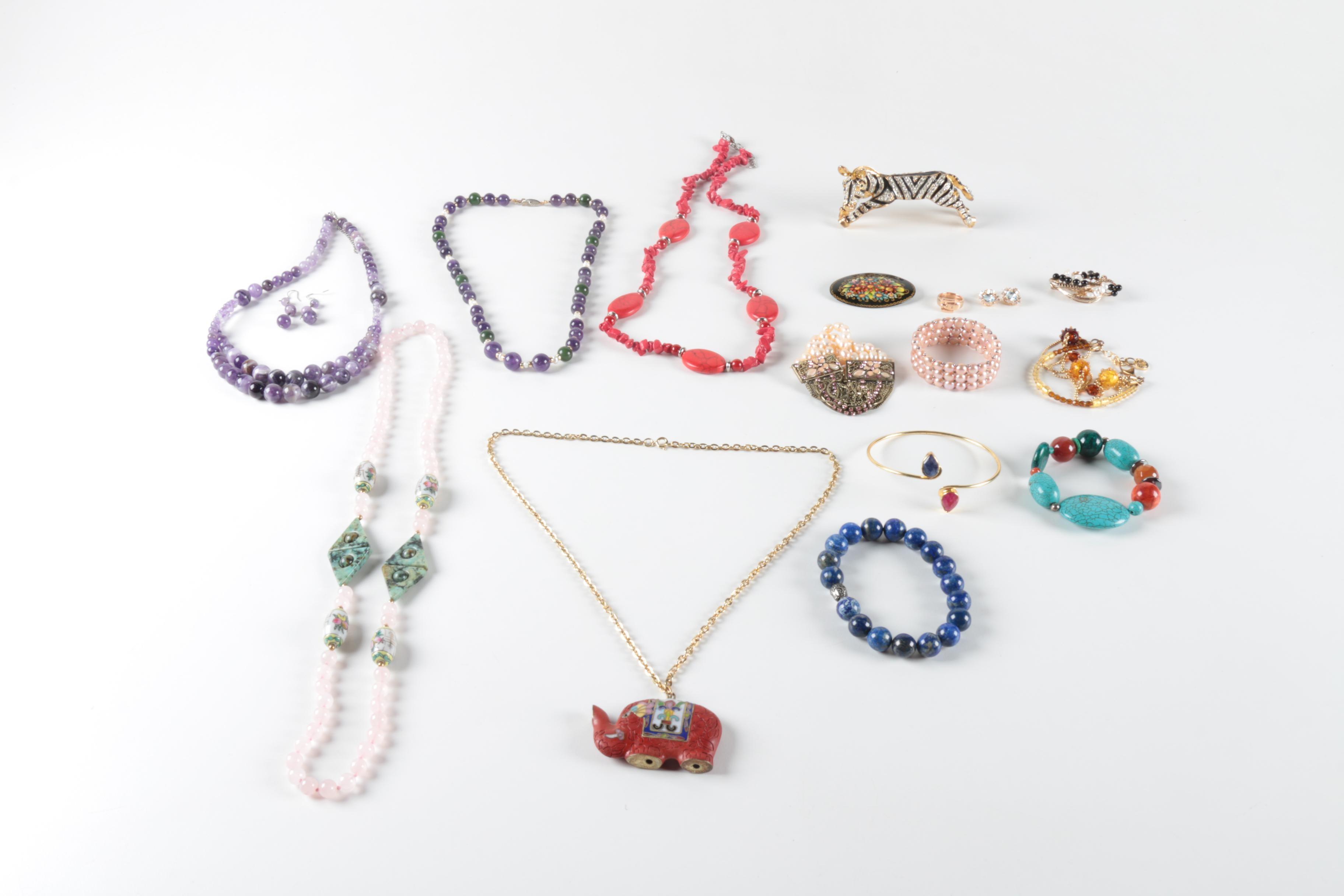 Costume Gemstone Jewelry Selection Including Michael Kors