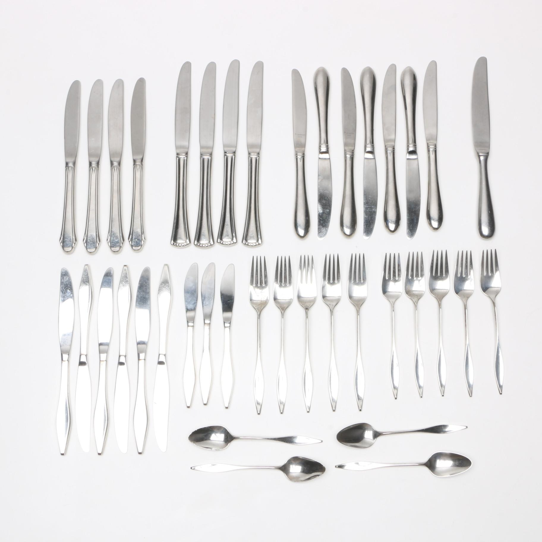"Reed & Barton ""Cellini"" Sterling Flatware with Stainless Steel Knives"