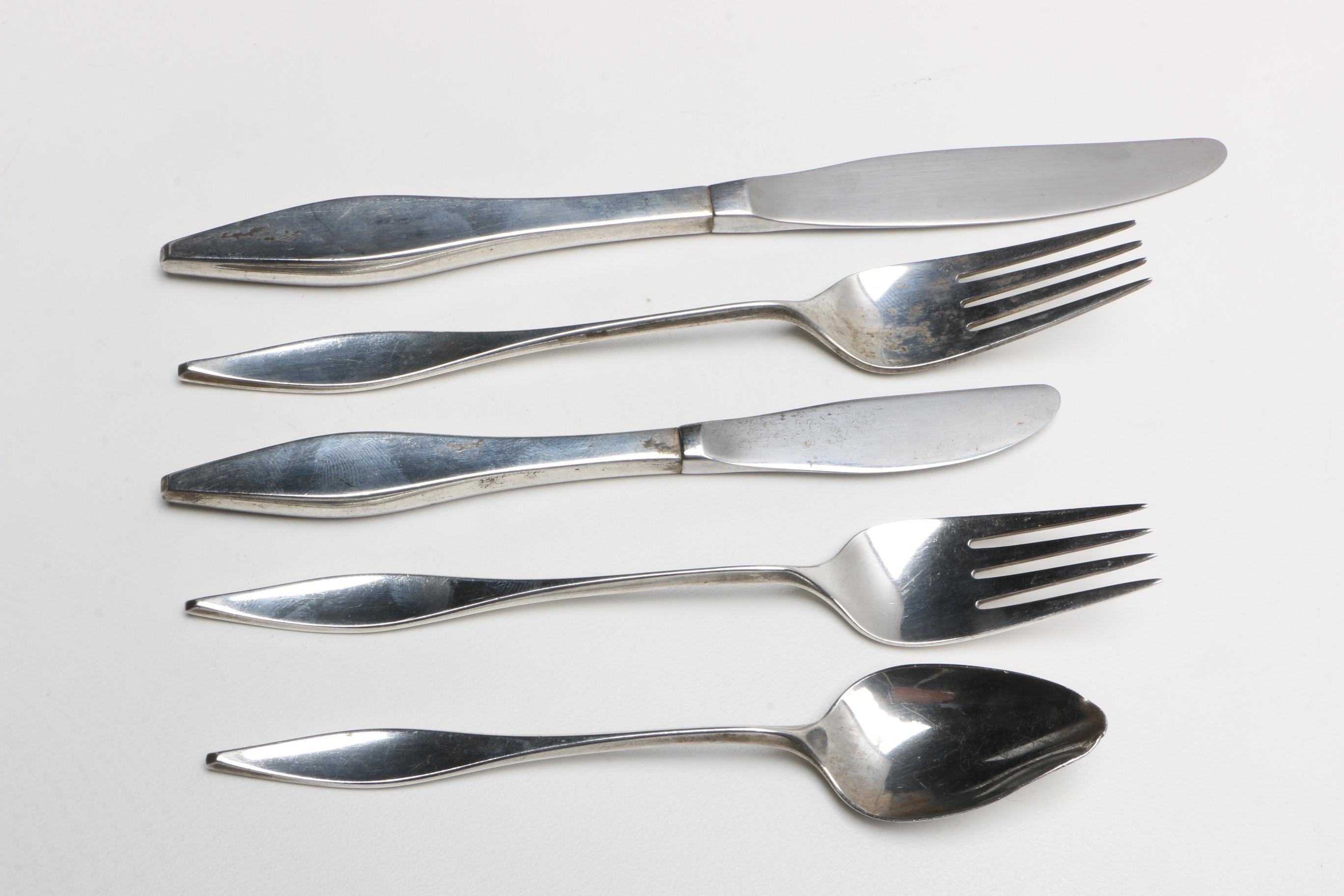 "Butler Auto Sales >> Reed & Barton ""Cellini"" Sterling Flatware with Stainless Steel Knives : EBTH"