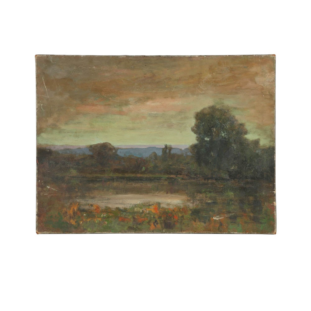 Oil Painting on Canvas of a Country Landscape