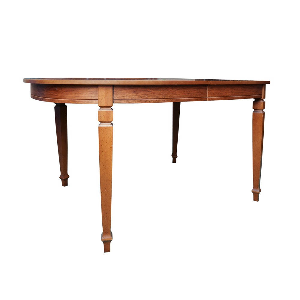 Vintage Pecan Dining Table
