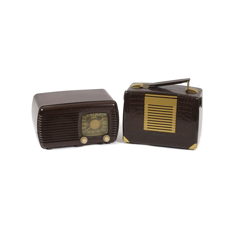 Vintage Zenith and RCA Victor Radios
