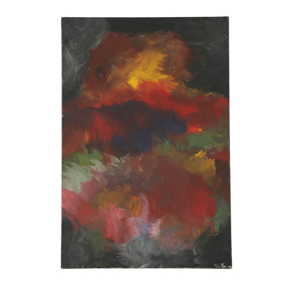 Palette Oil Painting on Canvas Abstract Composition