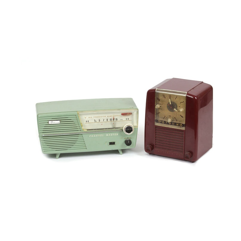 """Vintage Channel Master and Westinghouse """"Model H-397T5"""" Radios"""