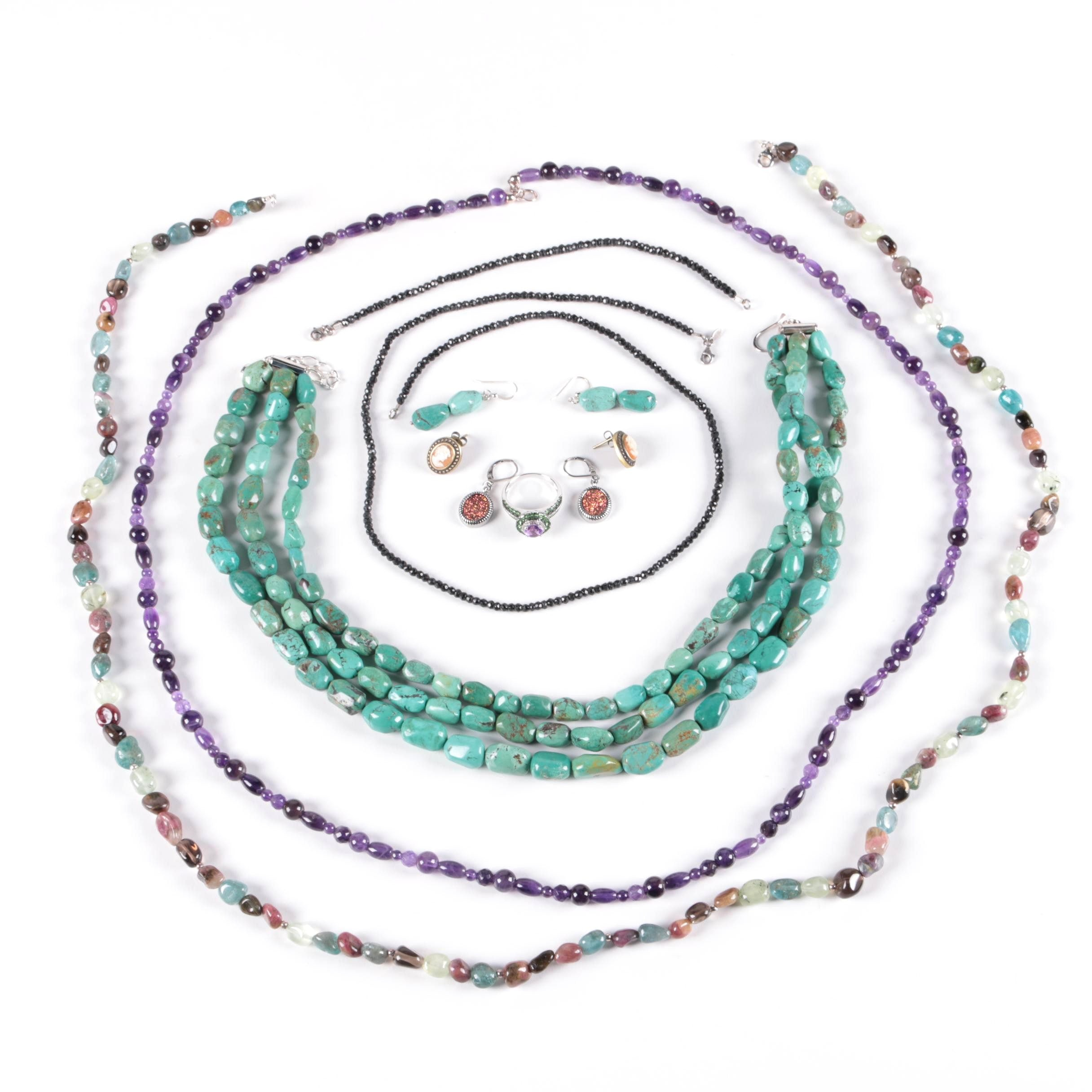Sterling Silver Jewelry Featuring Turquoise