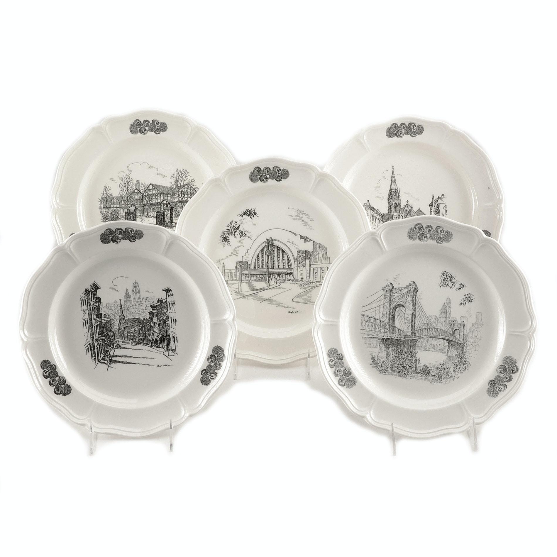 Group of Wedgwood Caroline Williams Cincinnati Collectible Plates