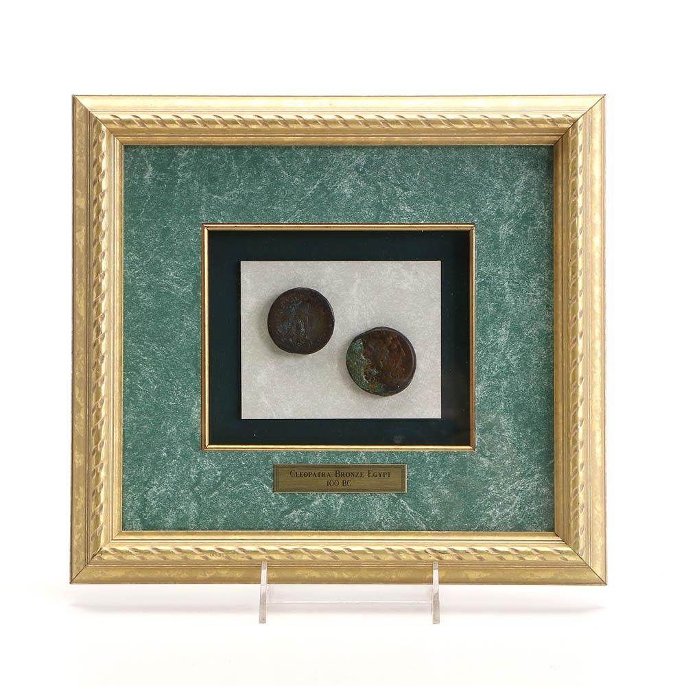 Ptolemy III Tetrobol Bronze Coins In Frame