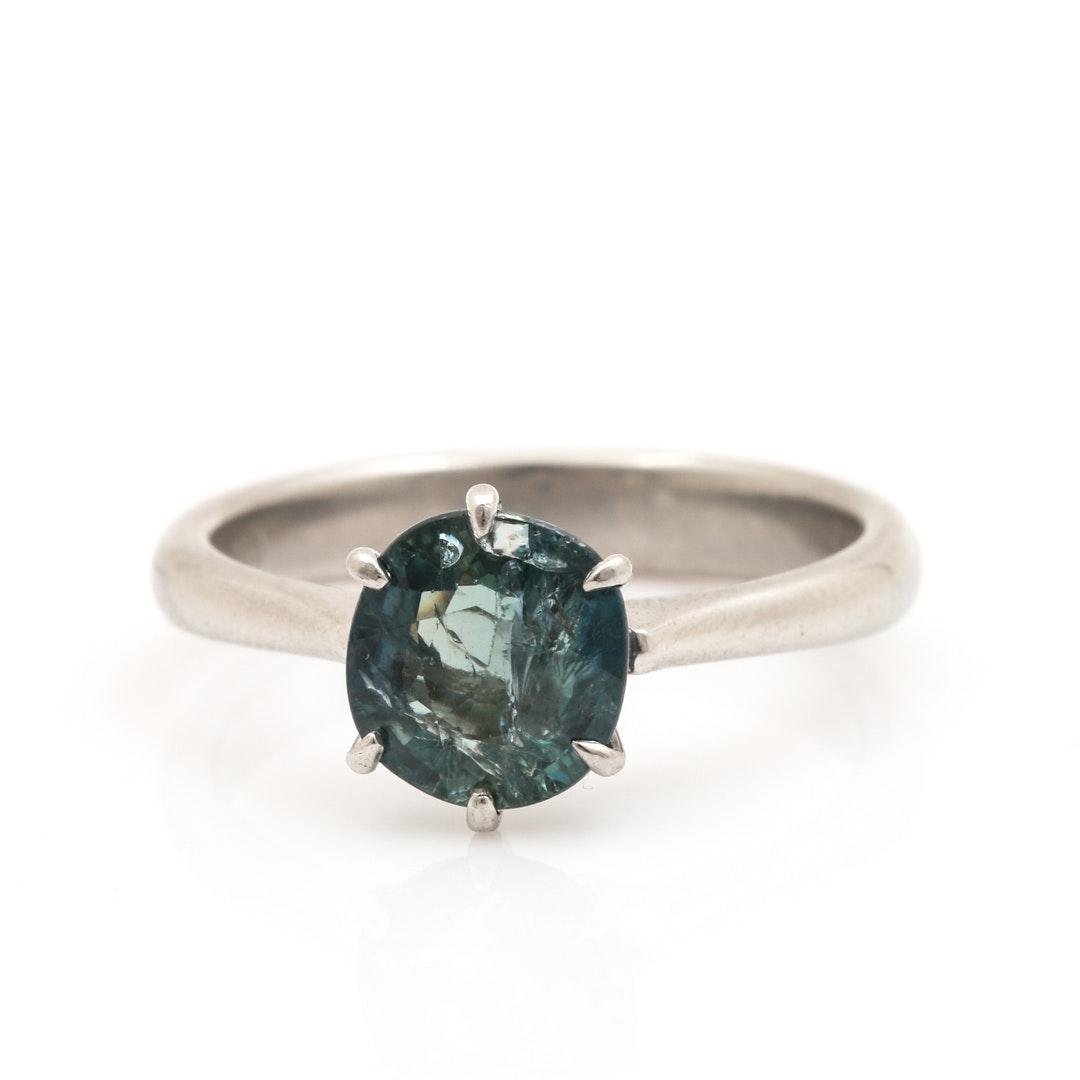 Platinum 1.95 CT Blue Sapphire Ring