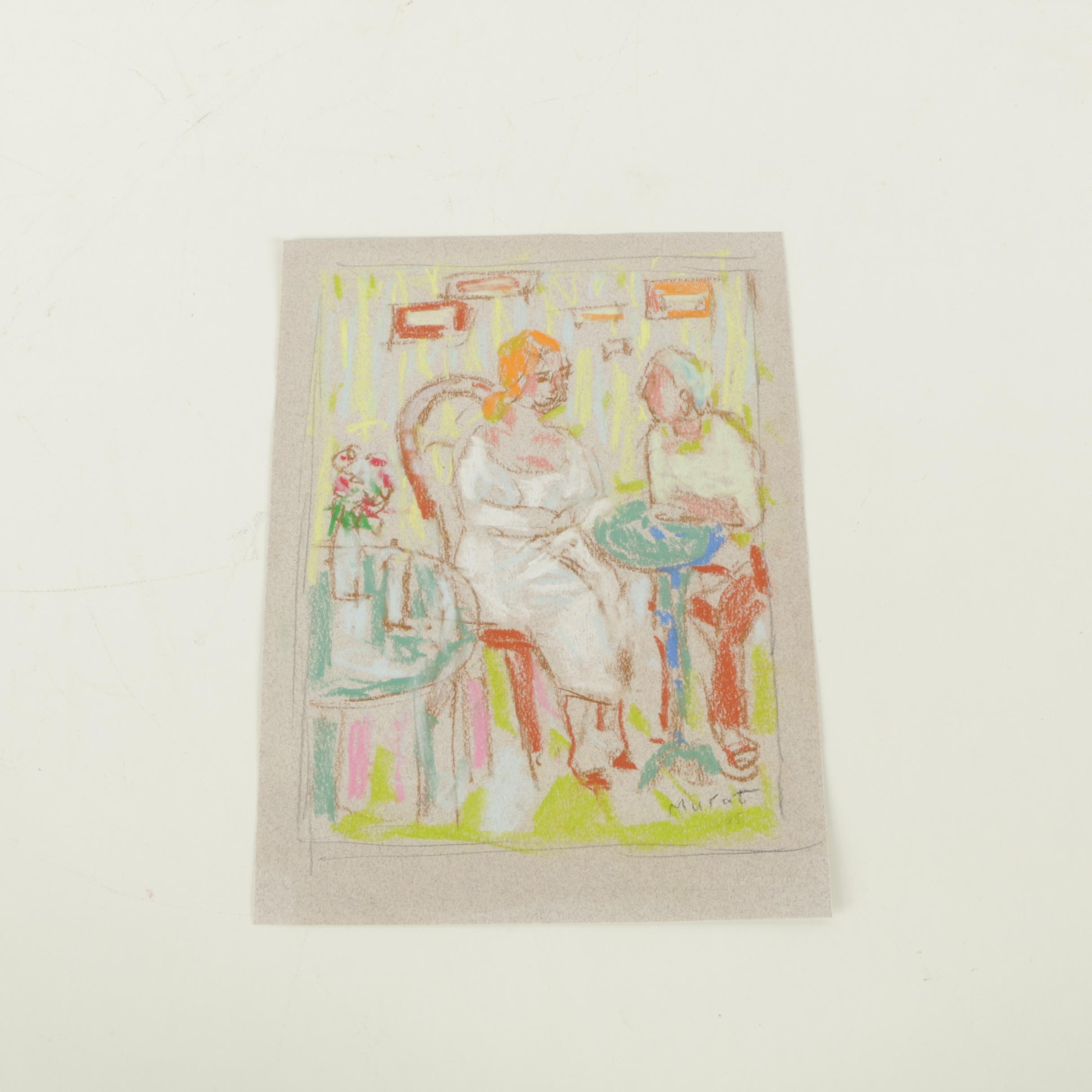 Murat Kaboulov Chalk Pastel on Paper