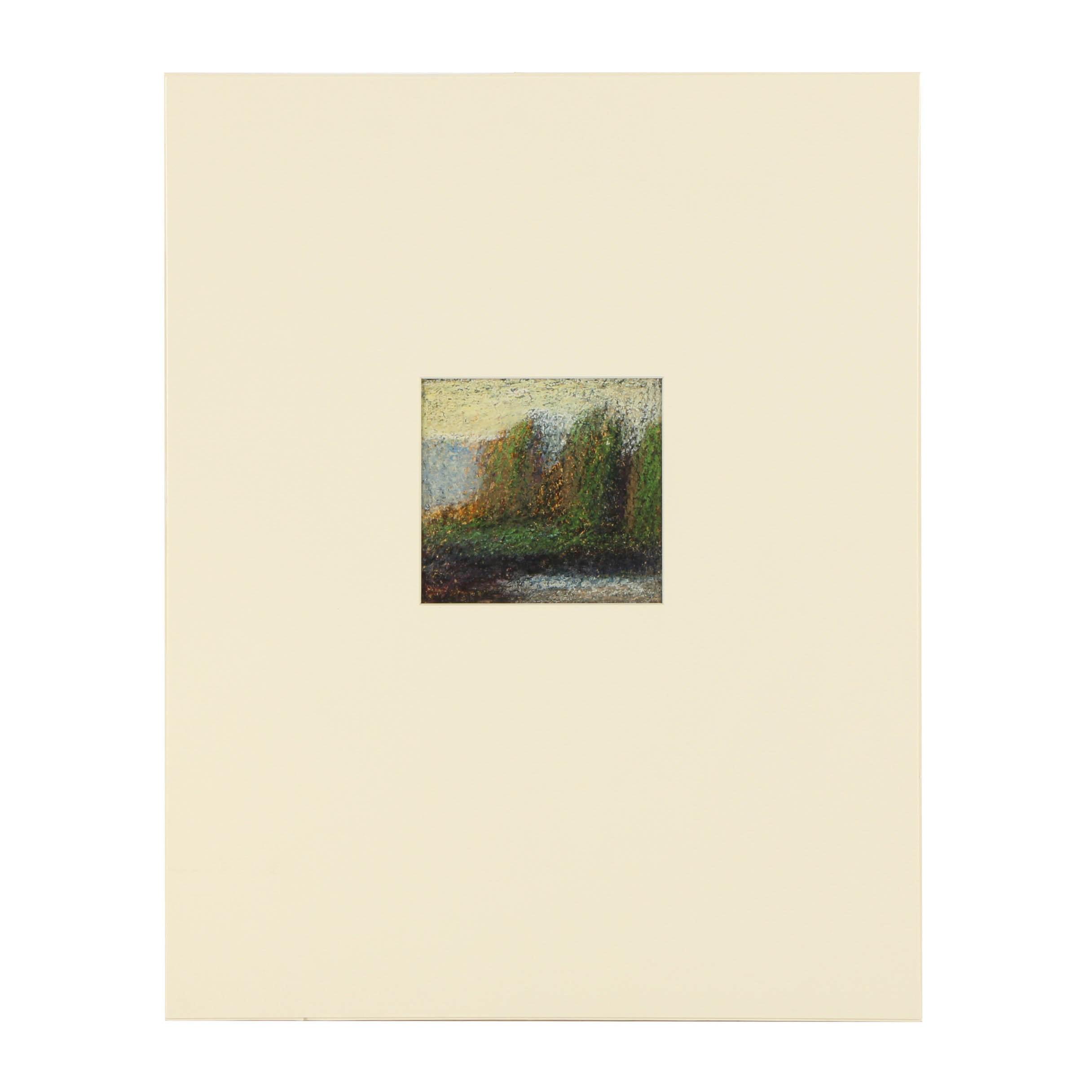 """Edgar Hatten Oil Painting on Paper """"Shrubs"""""""