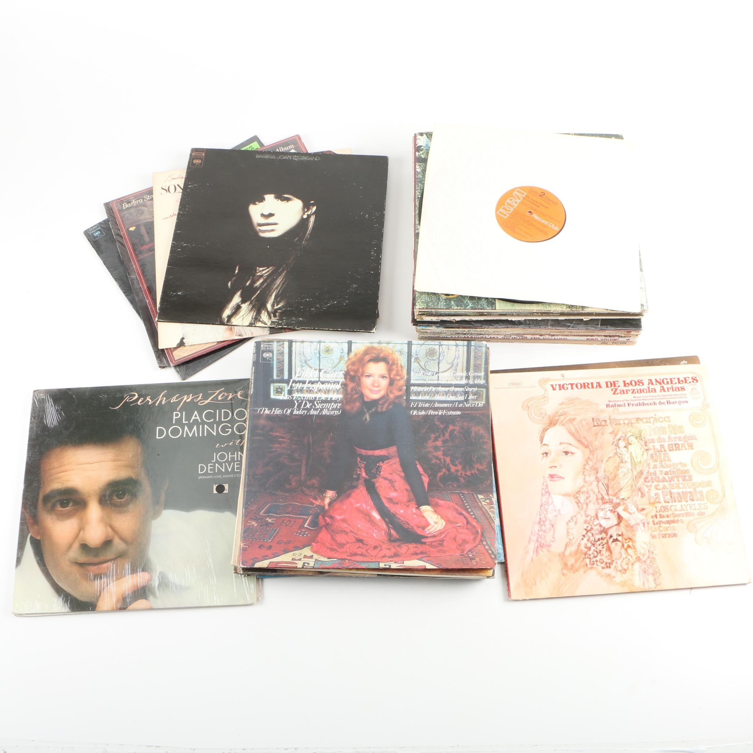 Vikki Carr, Barbara Streisand, Plácido Domingo and Other Records