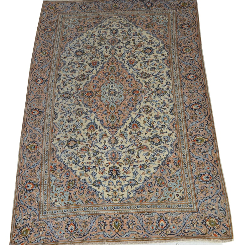Semi Antique Hand Knotted Persian Nain Area Rug