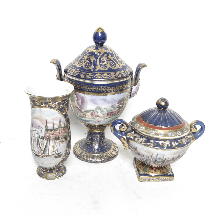 Chinese Porcelain Decorative Urns And Vase Ebth