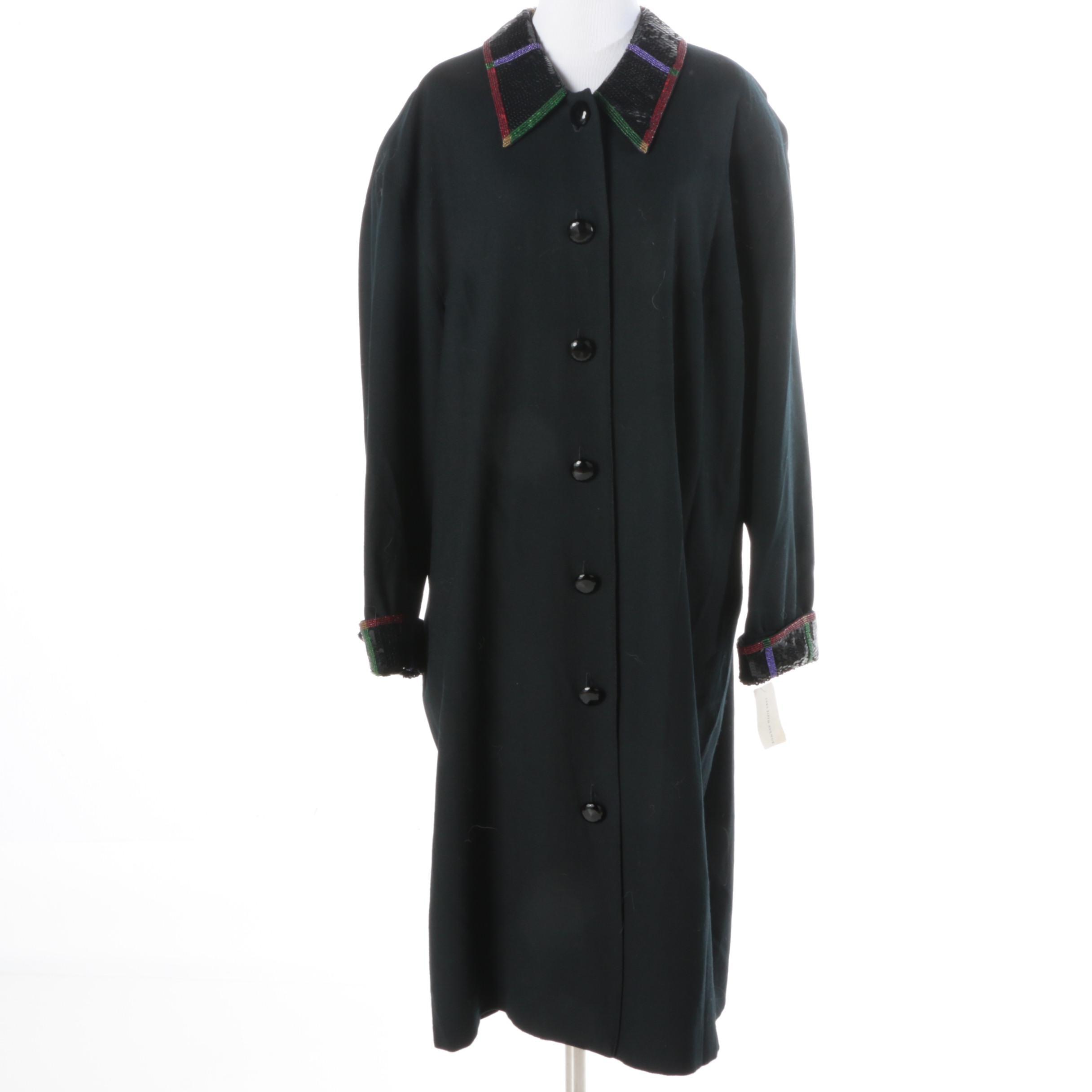 Chetta B Sequined Black Coat