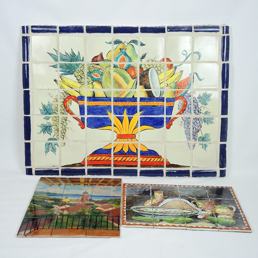 Handmade Mexican Ceramic Tile Artwork Collection Ebth