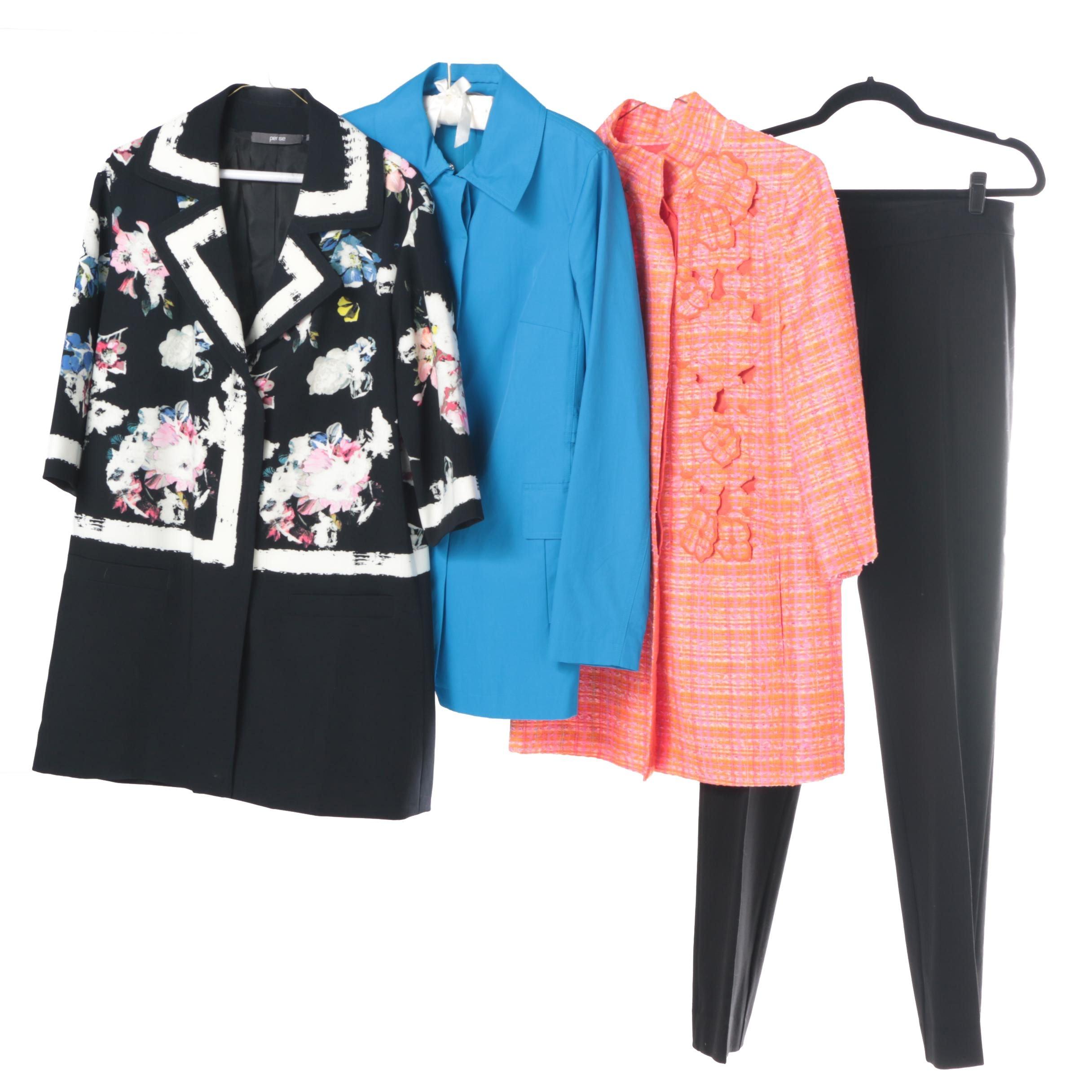 Women's Per Se Dress Coats with Black Dress Pants