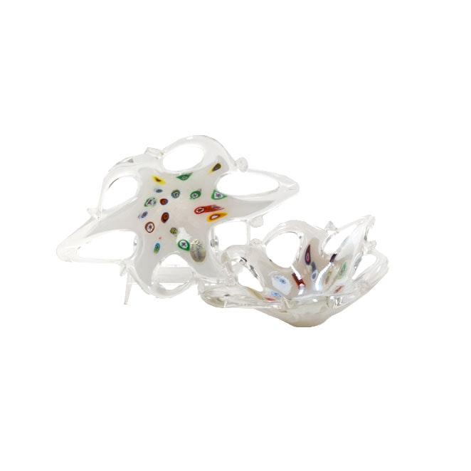 Pair of Lavorazione Murano Millefiori Art Glass Bowls