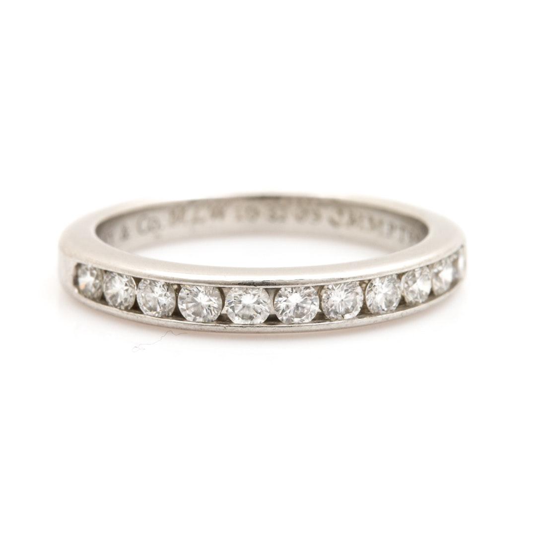 Tiffany & Co. Platinum 0.44 CTW Diamond Ring Band
