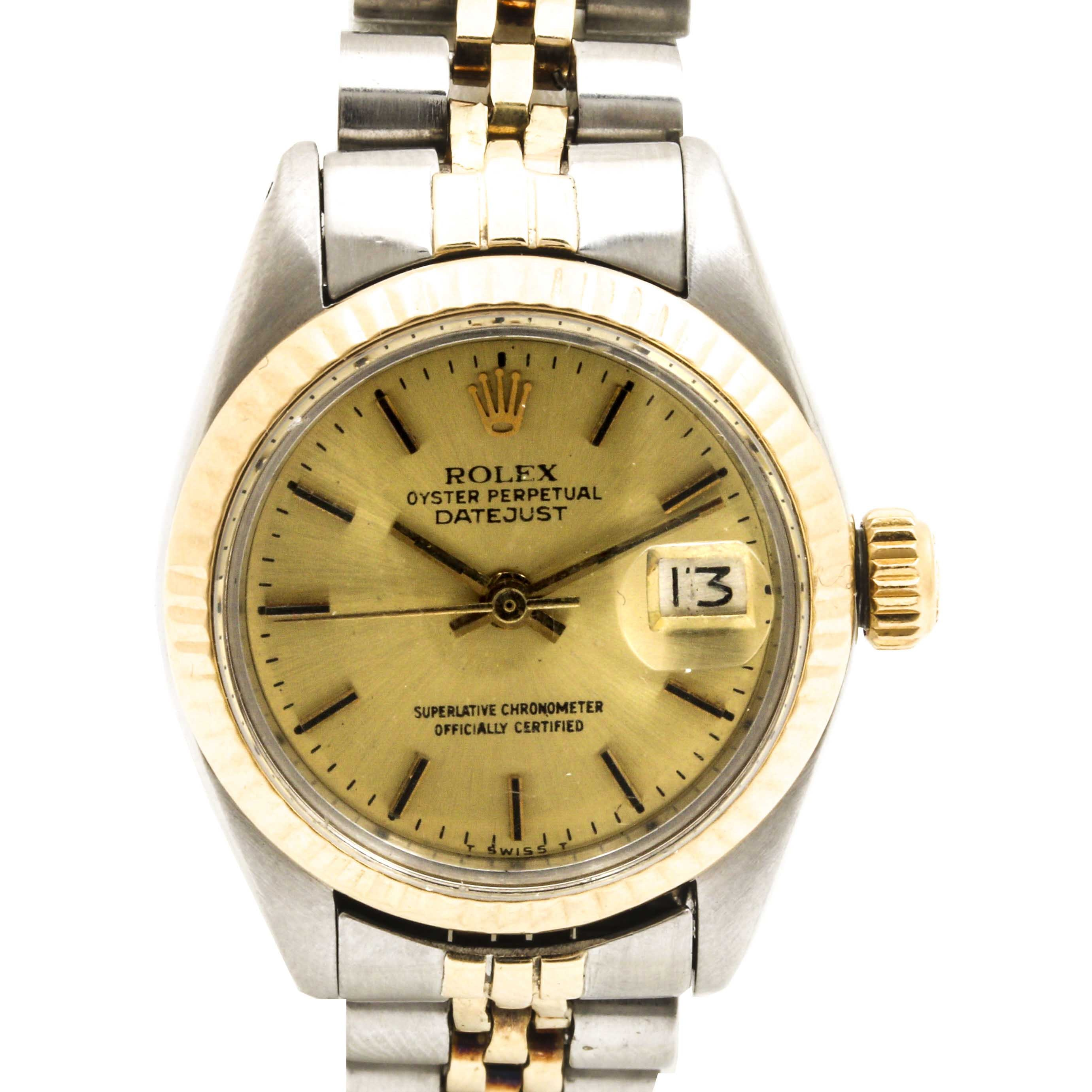 Rolex Stainless Steel and 14K Yellow Gold Accented Wristwatch