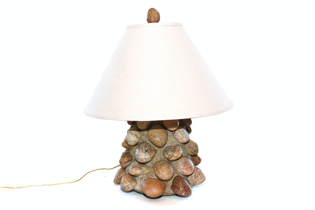 Handcrafted Rock Table Lamp ...