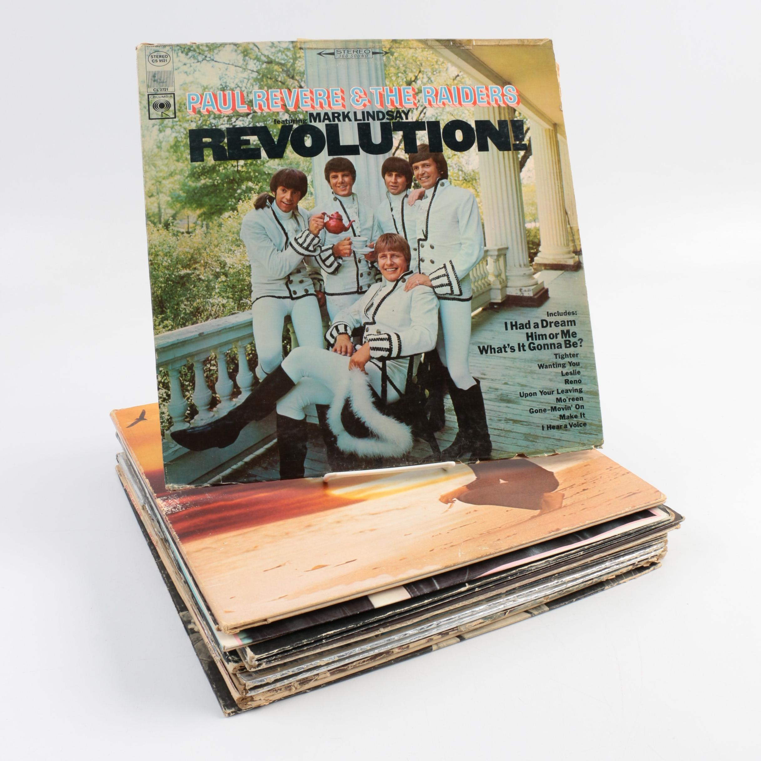 Collection of Classic Rock and Pop LPs