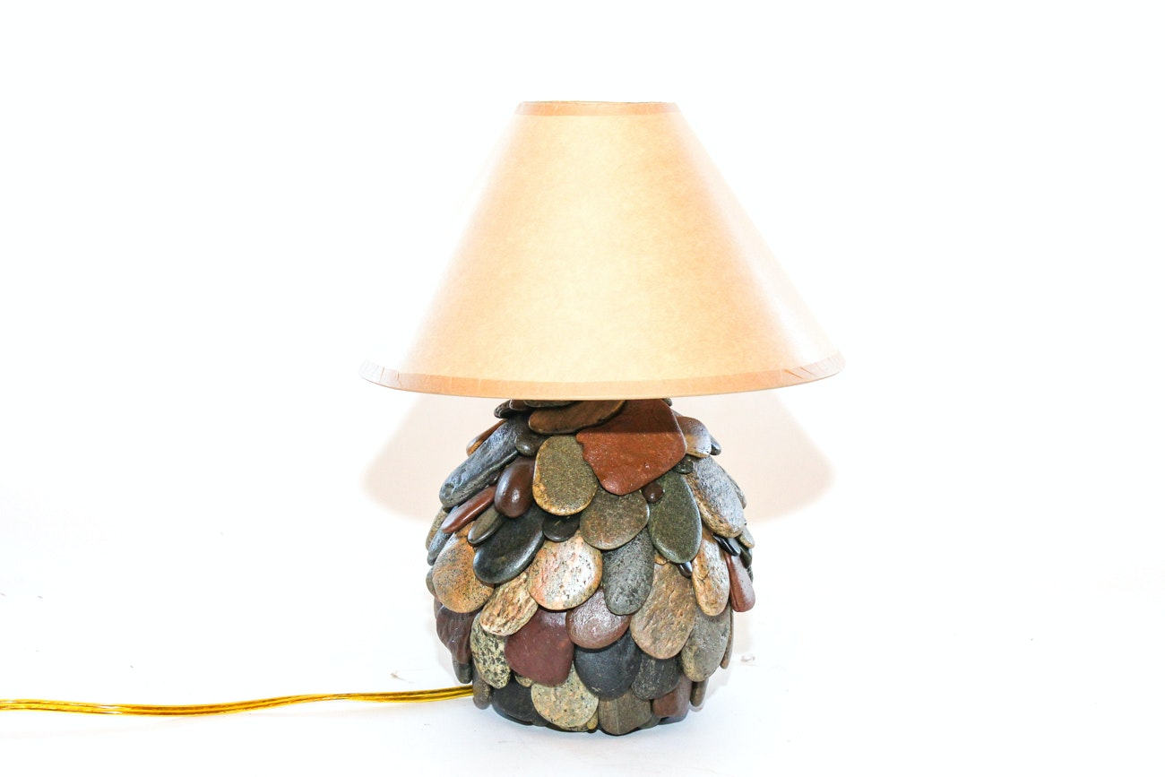 Small Handcrafted Rock Lamp