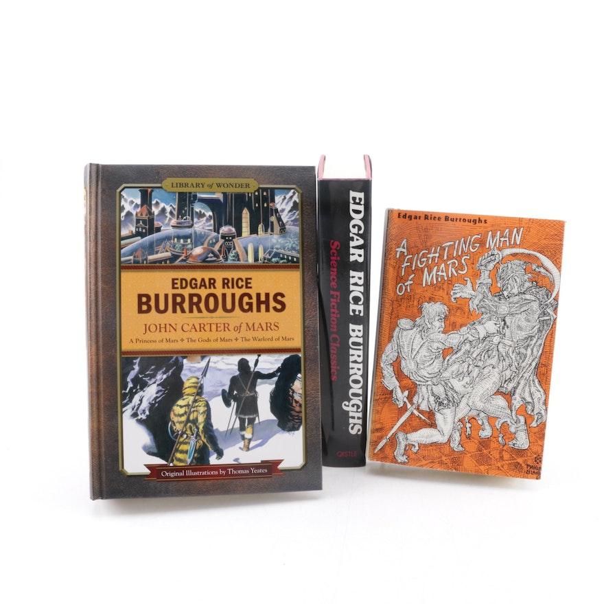 Edgar Rice Burroughs Books Including 2009 Illustrated John Carter