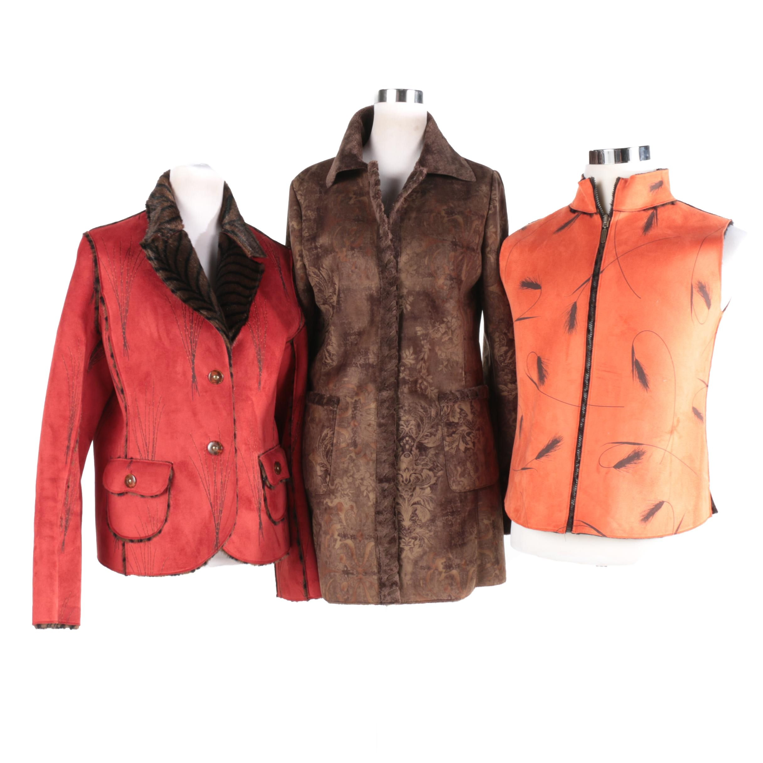 Women's Robert Kitchen Fall Sweater Vest and Sweater and Another Jacket