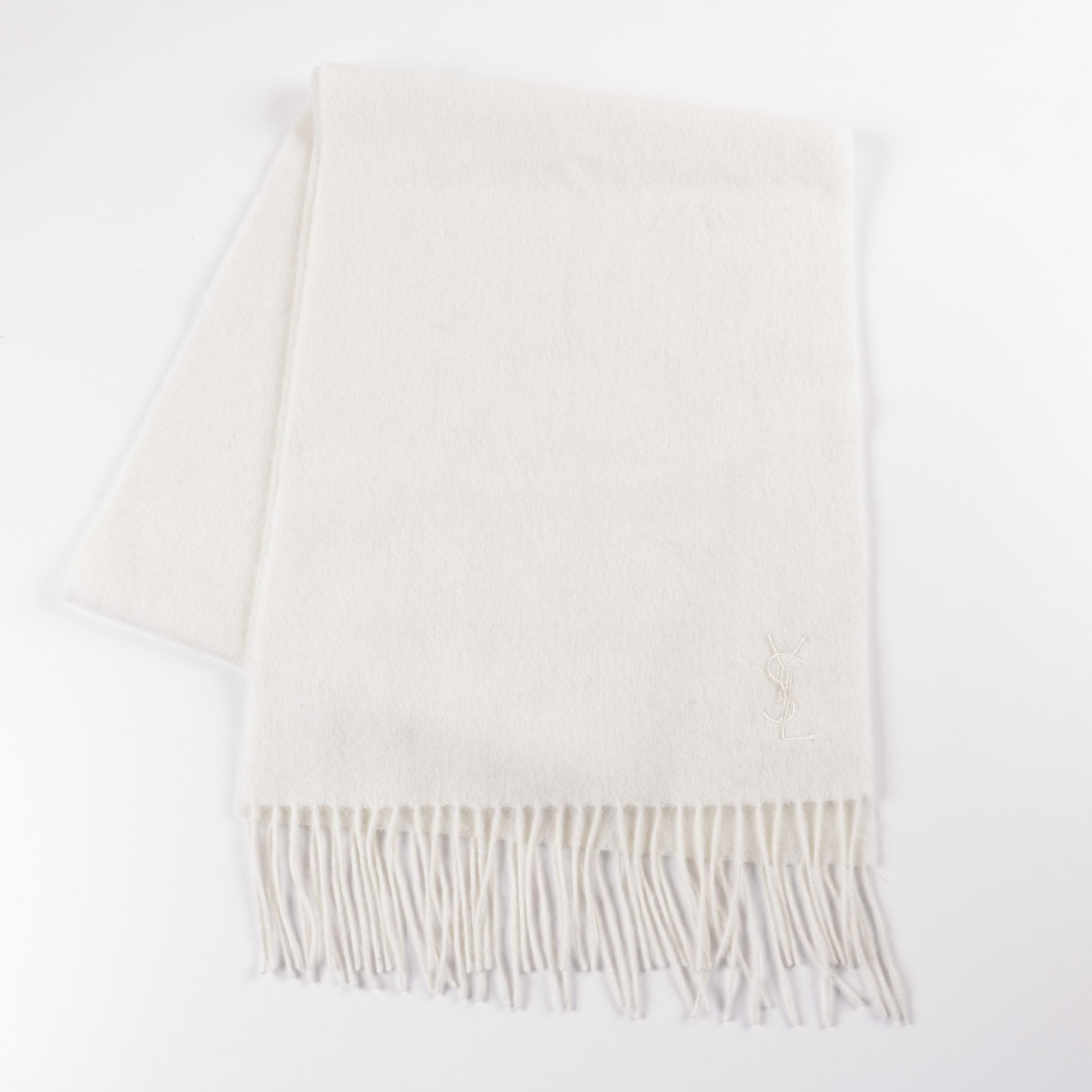 Yves Saint Laurent Wool and Cashmere Scarf