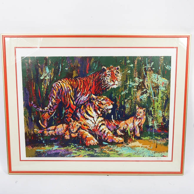 "Mark King Limited Edition Reproduction Print on Paper ""Bengal Family"""